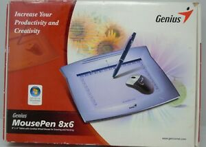 "Genius MousePen 8""x6"" Free Drawing Tablet - Corel Painter 8 & Pen Suite"