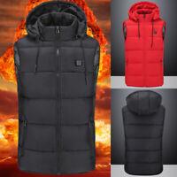❤️ USB Heating Pad Warm Up Body Electric Vest Heated Cloth Jacket Winter Warmer