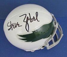 Steve Zabel Philadelphia Eagles Signed Throwback Mini Helmet 121939