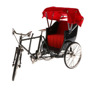 Diecast 1:10 Racing Dreirad Fahrrad Rikscha Fahrzeug Modell Collectibles