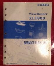 Yamaha WaveRunner service manual 2002 XLT800
