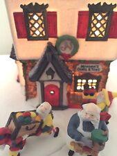 Dept 56 North Pole Neenees Dolls Toymaker Elves Heritage Ceramic Village