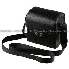 Leather Camera & Lens Case For Samsung NX10 NX11 NX100 NX200 Nikon 1V1 1J1 J2 V2