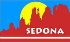 3x5 inch Sedona Arizona Flag Sticker -decal car bumper window az usa sandstone