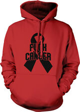 F*ck Cancer - Support Survivors Ribbon Cure Beat it Hope! Hoodie Pullover