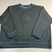 Lands' End Active Shirt Mens 3XL Dark Gray Long Sleeve Crew Neck Stretch Workout