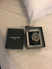 Infinite Ladies Grey Strap mock Multi dial Watch From Debenhams
