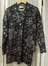 "CARLO COLUCCI Vintage 1990s Metallic Jumper 42"" Bust Large Snowflake Sweater"