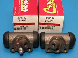 "Pair Crown Front Brake Wheel Cylinder 11"" Drum 1972-1977 Jeep CJ6 CJ6 CJ7"