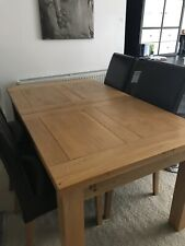 Oak dining (extends) table and 6 chairs