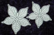 All Occasion Dies - Large Poinsettia - Set of 2 Metal Dies - Robert Addams 105
