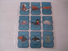 Lot of 9 Retired TY Beanie Baby Turquoise Serial Numbered Cards 1994-1998!