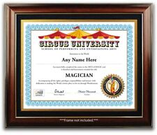 Magician Circus School Personalized Certificate Diploma - Magic Kit Tricks GIFT