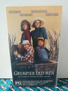 Grumpier Old Men VHS Jack Lemon Sophie Lauren PG VGC