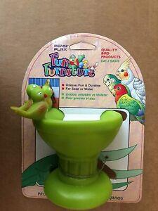 Penn Plax Bird Bath Fun House Furniture Plastic 1 pack Assorted colors - no pick