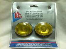 """2.5"""" x 2"""" Oval Amber 55w Fog Lamps/Lights Motorcycle Scooter Golf Cart Running"""
