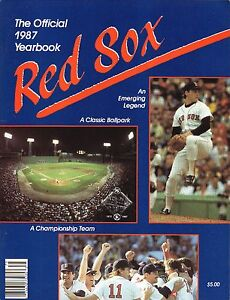 Boston Red Sox--Roger Clemens--1987 Yearbook