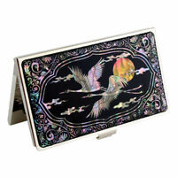 MOP Yellow Moon Design Metal Business Credit Name ID Man Card Case Pocket Holder