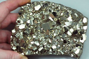 PYRITE Crystal Plate, Cabinet Sized Specimen from Defunct Daly Judge Mine, UT