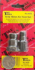 AIR HOLD FITTING SET 14mm & 18mm (HOLDS VALVES CLOSED) T&E TOOLS DALLAS