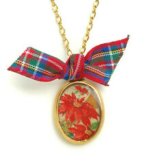 Maximal Art Necklace Christmas Poinsettia Gold John Wind Jewelry