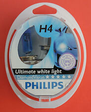 "PHILIPS H4 ""Diamond Vision"" Pack of 2 Bulbs 12V 60/55W ""NEW & SEALED"""