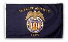 United States Merchant Marine In War and Peace 1775 Official 4x6 Flag Usa Made