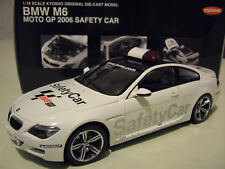 BMW M6 COUPE MOTO GP 2006 SAFETY CAR 1/18 KYOSHO 08707GPB voiture miniature coll