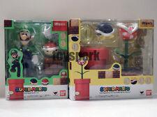 S.h. figuarts Nintendo Super Mario LUIGI + DIORAMA PLAY SET C action figure bros