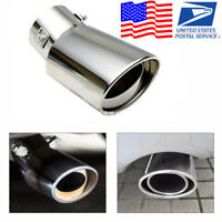 New Car Bumper Exhaust Tail Pipe End Throad Anti-corrosive Tip form US Warehouse