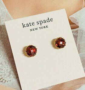 kate spade Red crystal earring