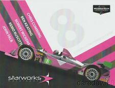 2017 Starworks Motorsport #8 Chevy Oreca PC Rolex 24 IMSA WTSC postcard
