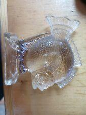 "Vintage Paperweight Genuine Lead Crystal Animal Art Glass Fish 4 1/2"" X 4 1/2"""