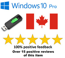 Windows 10 Pro USB 32 & 64bit bootable with keycode, repair or install