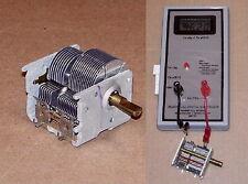 TSTD DUAL 2 section VARIABLE air tuning capacitor crystal tube AM radio NOS cap
