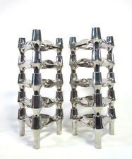 10x bmf steckleuchter candeleros Space Age Candle sticks comportarán sistema 1970s