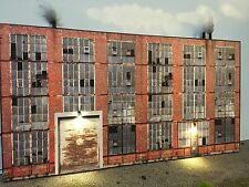 O Scale Scratch Built Industrial  #1 Combo Building Flat/Front LEDs, MTH Lionel