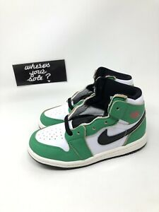 Nike Air Jordan 1 One Lucky Green Size 9c TD Toddler New DS CU0450-300