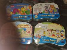 4 Vtech Vsmile Baby Barney Pooh Mickey Mouse Einstein Game Cartridges Lot New