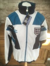 Vintage 1990s Umbro England Football Tracksuit Top Jacket & Bottoms Mens Small