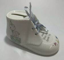 Precious Moments Bootie Bank 1990 Enesco 'Heaven Bless Your Special Day'