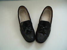 Dexter genuine handsewn leather black  tassel loafers made in USA size 7.5 M
