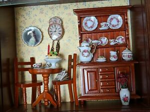 Reutter Original Germany Wallpicture Coffeeshop (Kaffeehaus)-Miniature Dollhouse