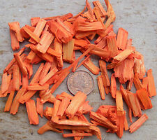 20g Pkt Orange Colour Wood Chippings Dolls House Miniature Garden Bark Accessory