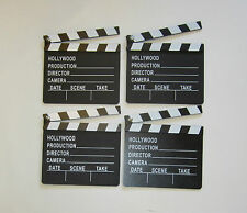 4 NEW MOVIE DIRECTOR'S CLAPBOARD PROP HOLLYWOOD CLAPPER CHALKBOARD PARTY DECOR