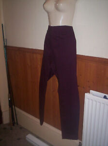 BRAND NEW MATALAN CURVES BURGUNDY PULL ON TROUSERS SIZE 22