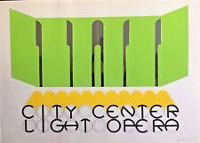 REDUCED,Gerald Laing - City Center of Music and Drama, 66/144 Signed Screenprint