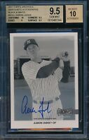 2017 Topps Archives Snapshots Aaron Judge Black & White Auto RC BGS 9.5 #d 17/25