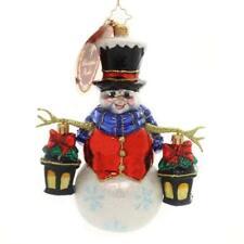 Christopher Radko Winter Watch Glass Ornament 2018 Snowman Glow 1019572