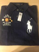 $98.50 SLIM FIT (S)POLO-RALPH LAUREN Navy  Mesh BIG PONY & CREST Polo Shirt